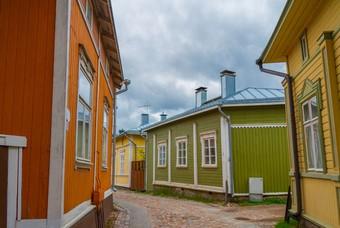 Het oude centrum van Rauma