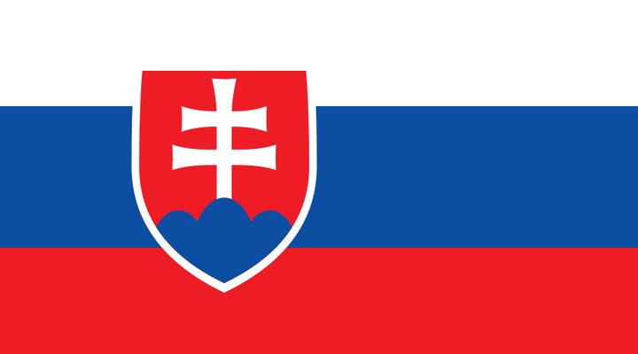De huidige vlag van Slowakije
