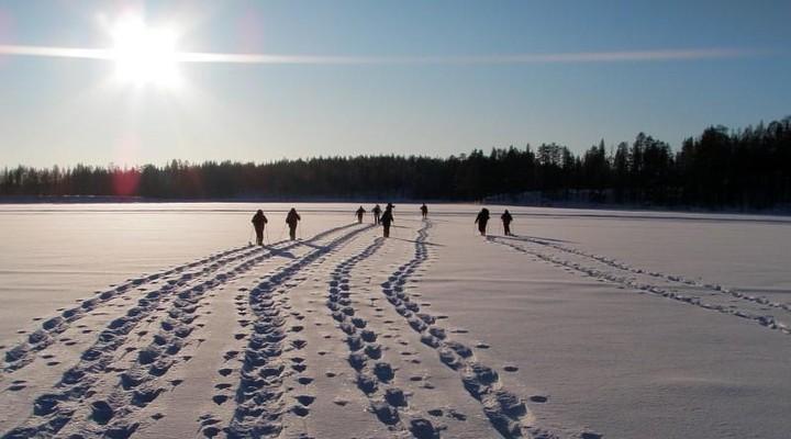 Sneeuwwandeling door het Finse Lapland