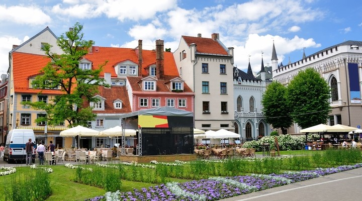 Oude binnenstad Riga, letland