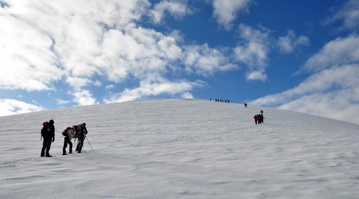 Wintersport op de Ararat, Turkije