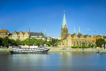 Skyline Bremen Duitsland stedentrip