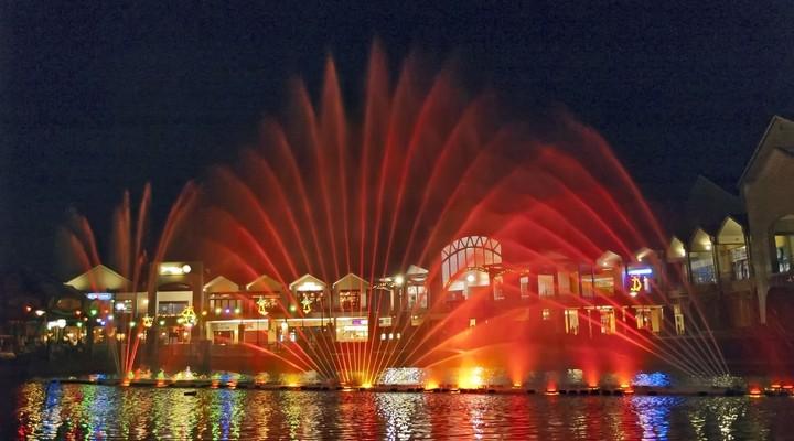 Gekleurde fonteinen Johannesburg