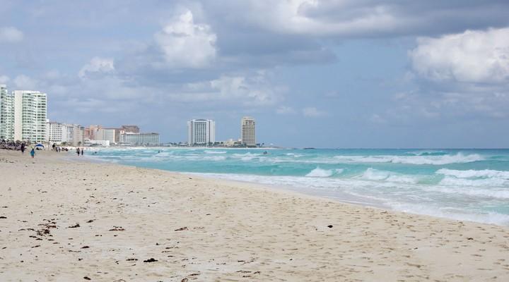 Kustlijn Cancún, Caribische Zee, Mexico