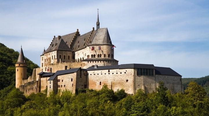 Middeleeuws Kasteel Vianden, Luxemburg