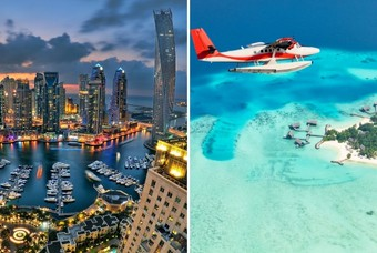 De combinatie Dubai & de Malediven