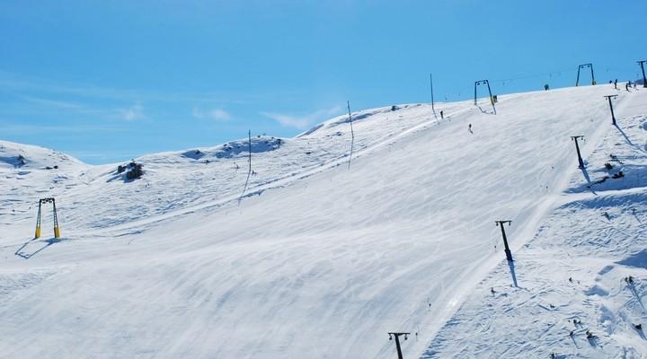 Skien in Macedonië, afdaling
