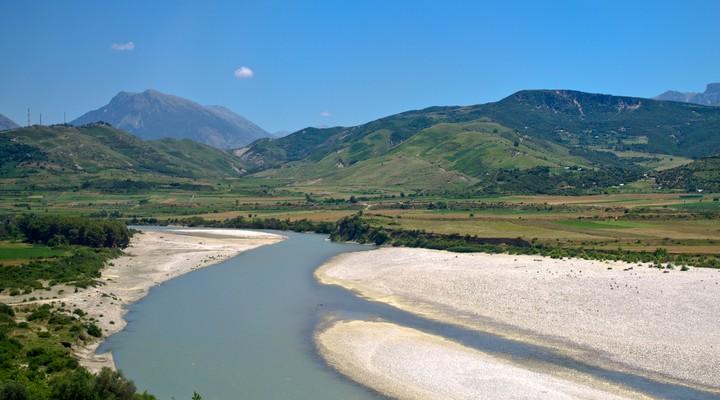 Bergachtig landschap in Albanië