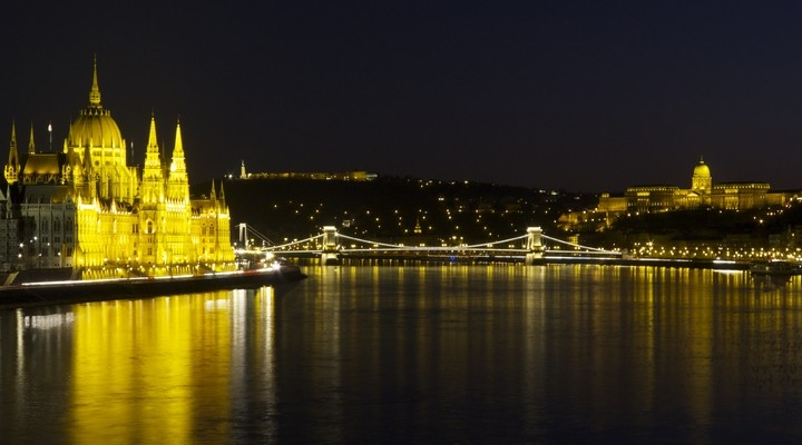 de skyline van Boedapest