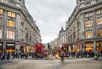 Oxford Street winkelstraat shoppen in Londen