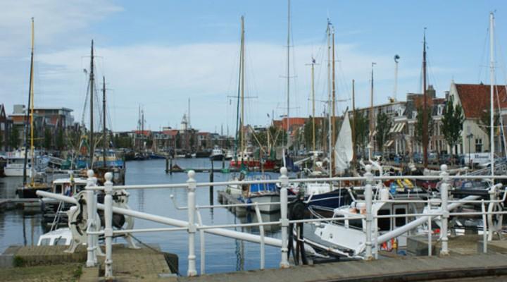 Haven in Friesland, Nederland