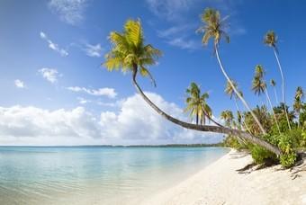 Een van de poederwitte stranden van Fiji