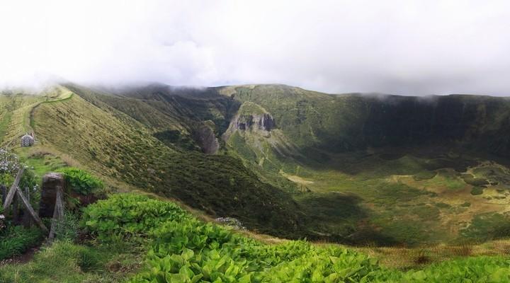 Groene landschap van de Azoren