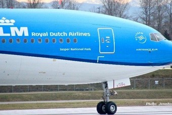 Jasper National Park nieuwste Boeing van KLM