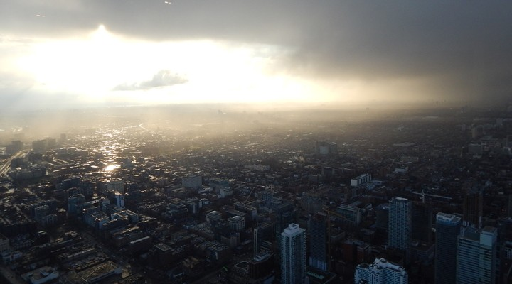 Uitzicht vanuit de CN tower