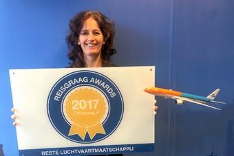 KLM wint Reisgraag Award 2017