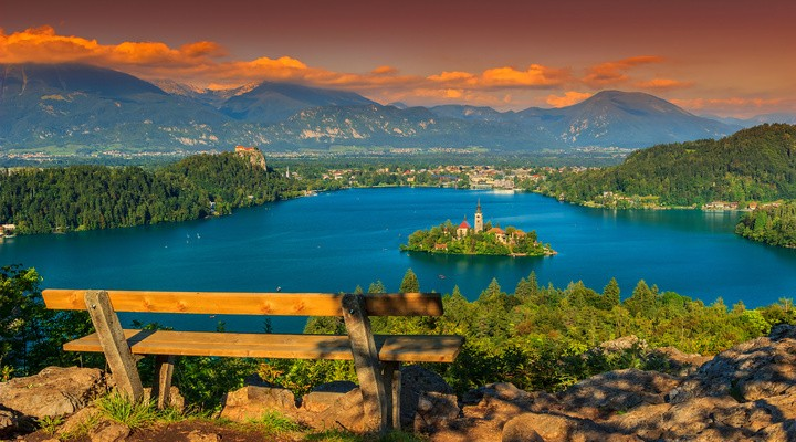 Lake Bled in Slovenië