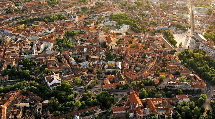Uitzicht op Vilnius vanuit de lucht, Litouwen