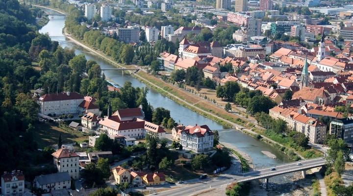 Uitzicht op de stad Celje - Slovenië