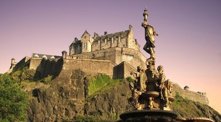 Edinburgh Castle in Schotland