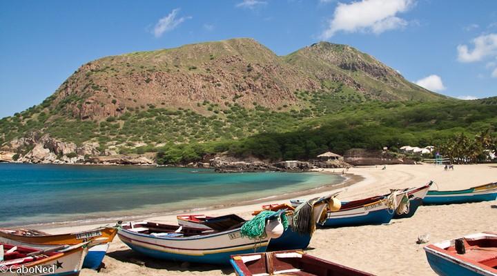 Een van de stranden van Kaapverdië
