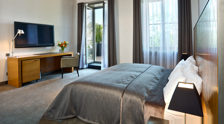 Hotel Albrecht slaapkamer