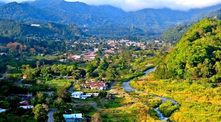 De stad Boquete in Panama