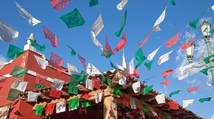Mexicaanse decoratie tijdens feestdag