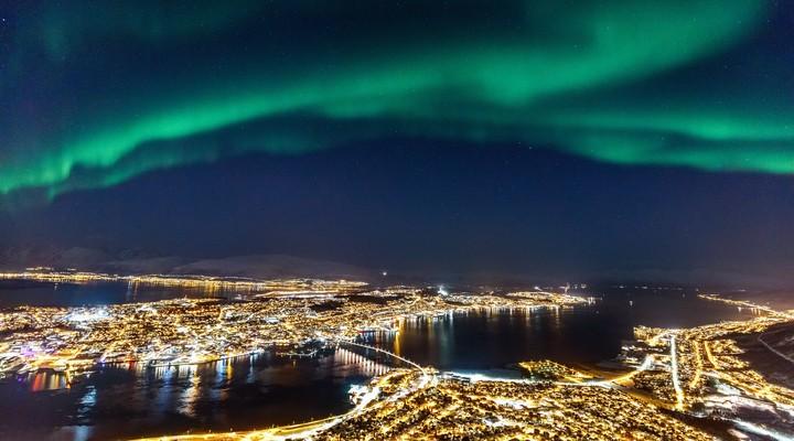 Noorderlicht boven Tromsø