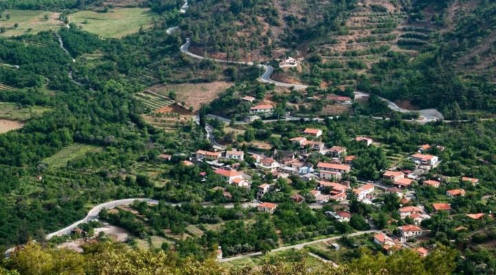Bergdorpje in het Troödosgebergte