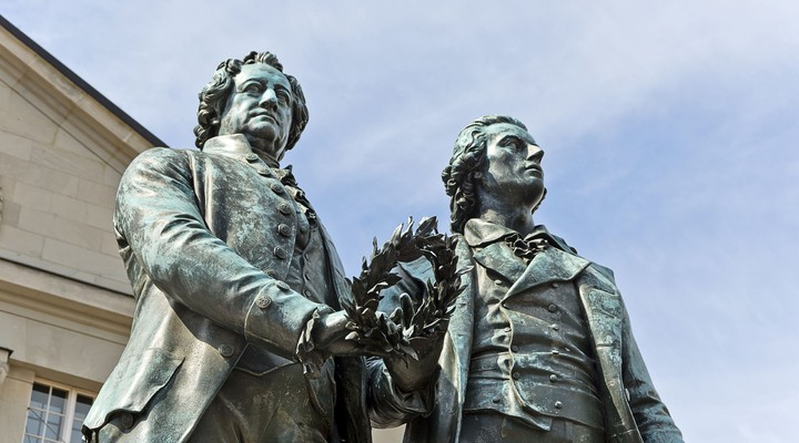 Monument Goethe en von Schiller Weimar