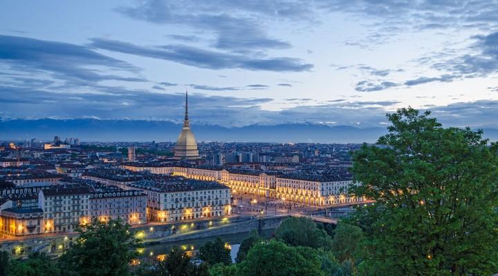 Stadsbeeld Turijn, stad Italië