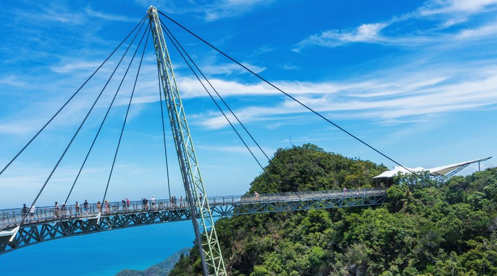 Langkawi Sky bridge over de jungle