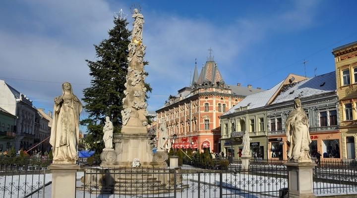 Immaculata standbeeld stadsplein Kosice
