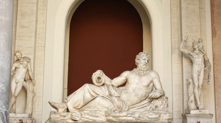 Vaticaanmuseum Rome, oude beelden