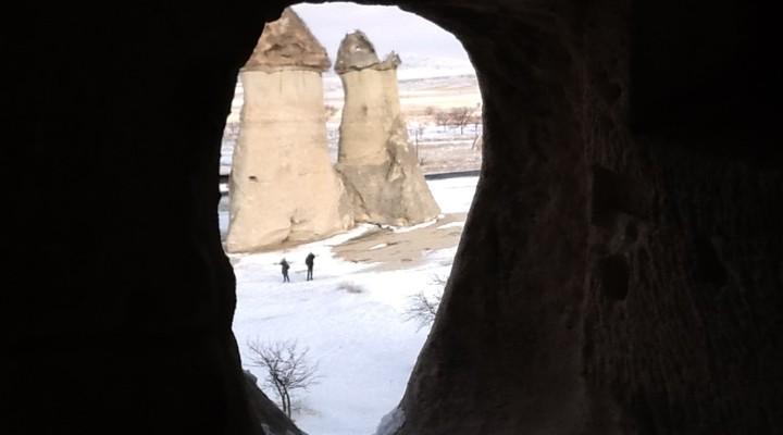Bizarre rotsformaties in het tuflandschap