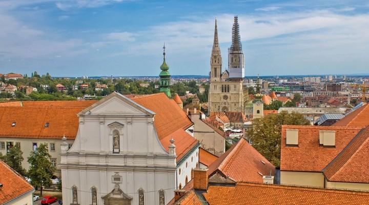 Binnenstad Zagreb met kathedraal, Kroatie