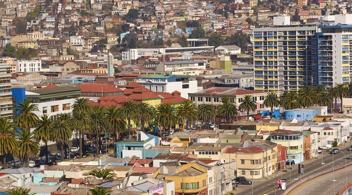 Gebouwen havenstad Valparaíso