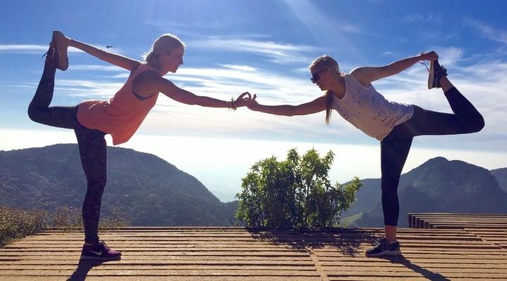 Yogapose bij World's End
