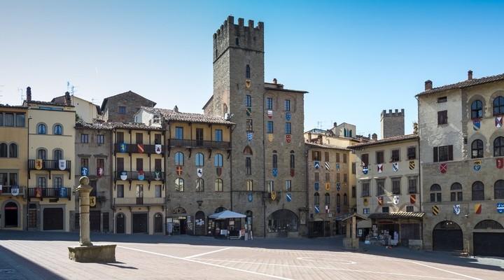 Piazza Grande, Arezzo, Italie