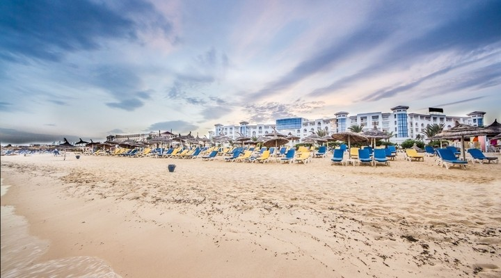 Strand van Hammamet - Tunesië