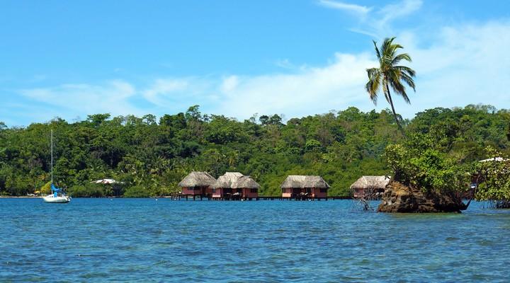 Rieten hutjes, Caribische Zee, Bocas del Toro