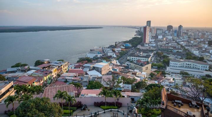 Uitzicht op de stad Guayaquil
