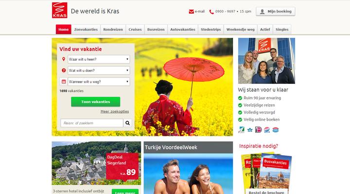 De gewone website van Kras