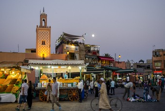 Een plein in Marrakech