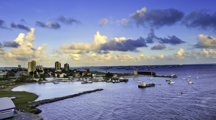 De haven van Colón, Panama