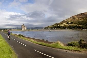 Fietsen langs de kust in Schotland