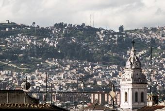 Stadsbeeld van Quito, Ecuador