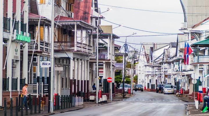 De hoofdstad Paramaribo