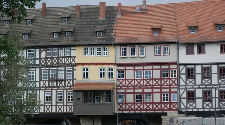 Kramerbrug Erfurt, historisch centrum